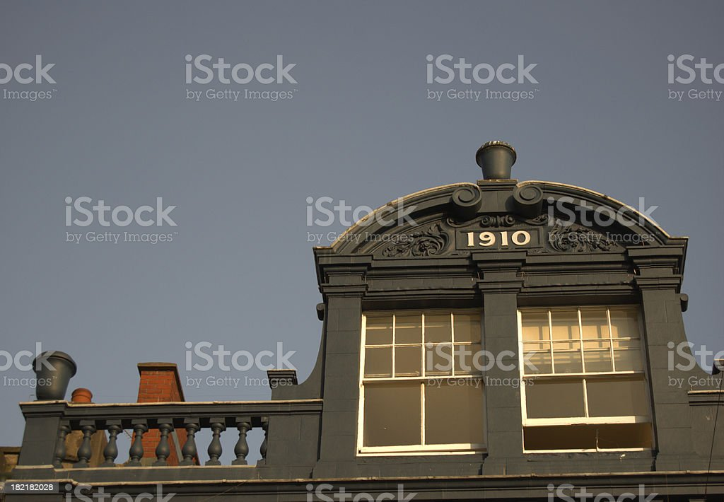 Built in 1910 stock photo