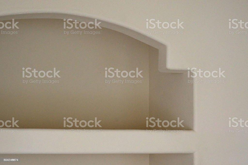 built in shelf stock photo