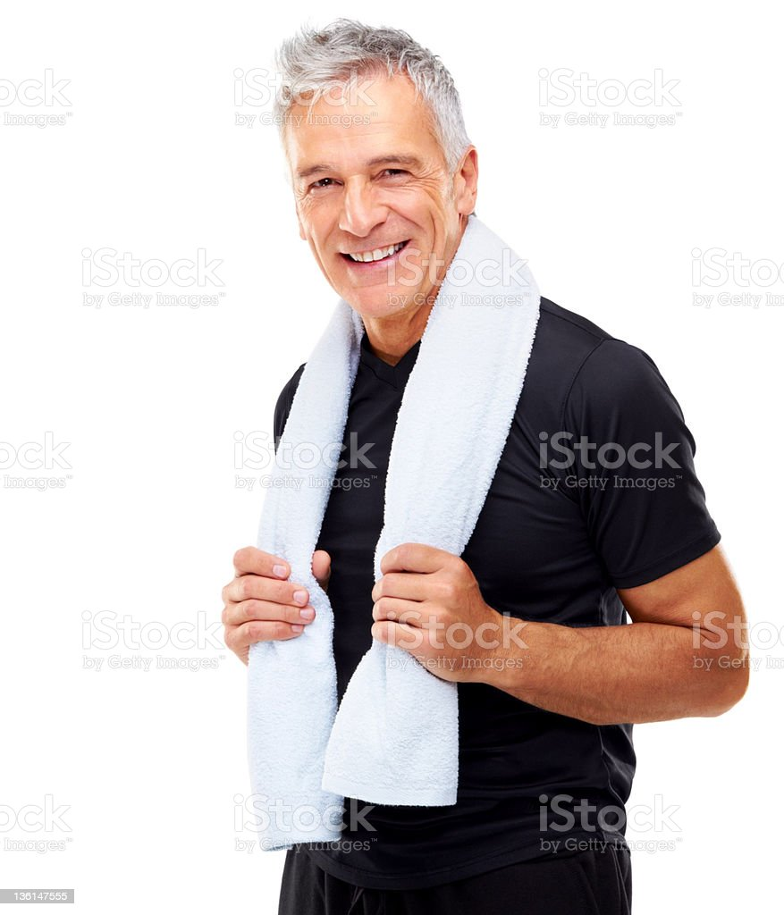 Built up quite the sweat! stock photo