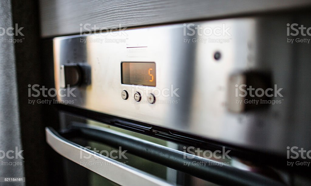 Built-in electric oven stock photo