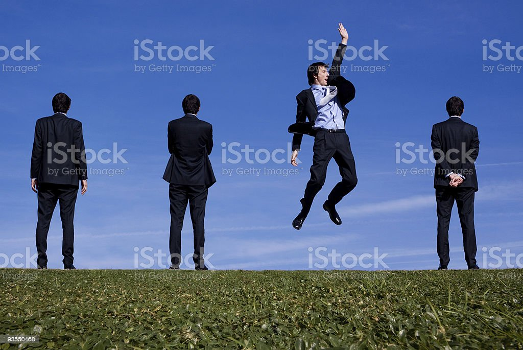 Buiness man spots an opportunity royalty-free stock photo