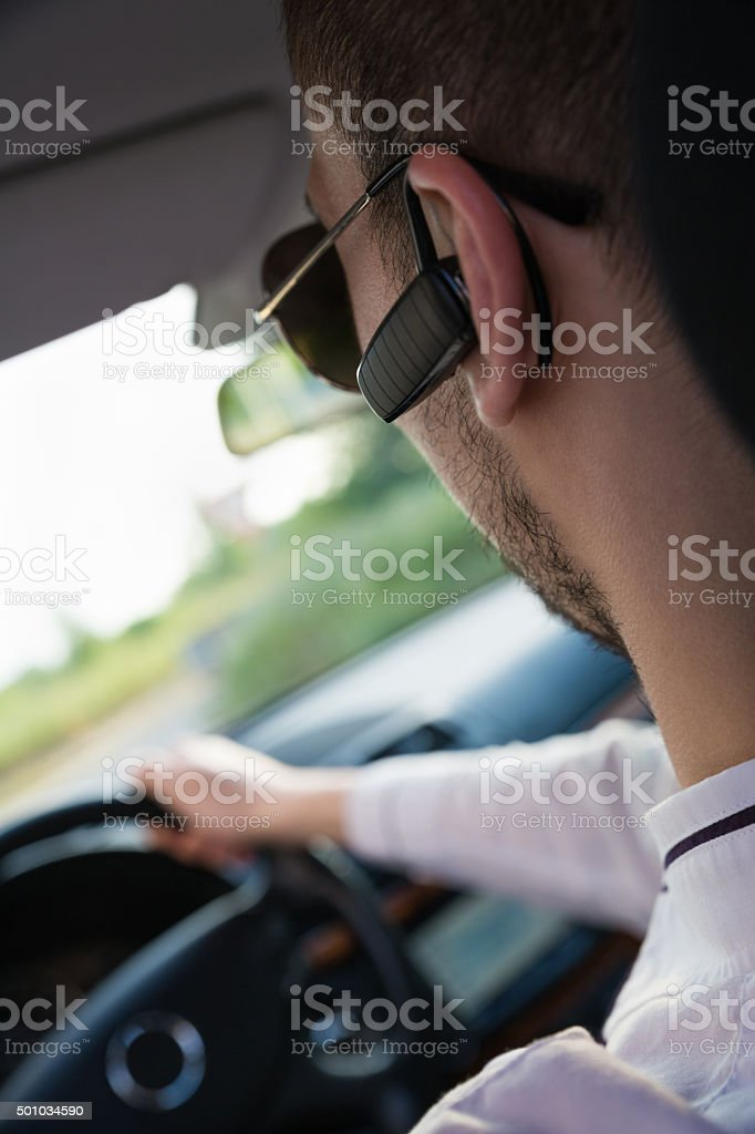 Buinessman In Car stock photo