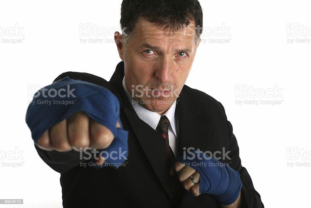 Buisness man - fighter stock photo