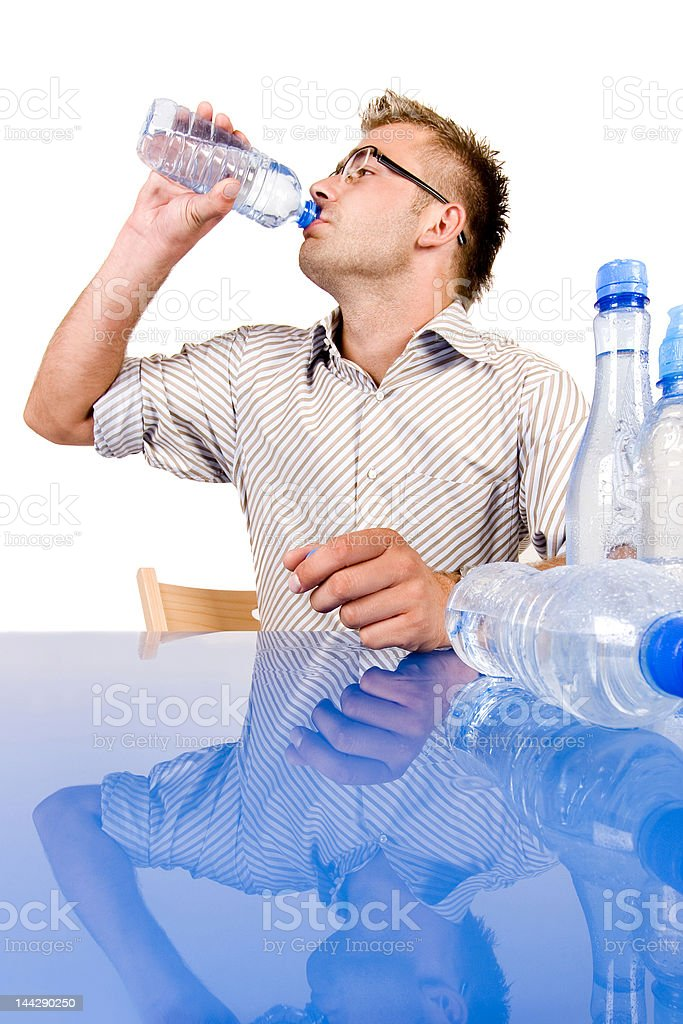 Buisnessman and mineral water royalty-free stock photo