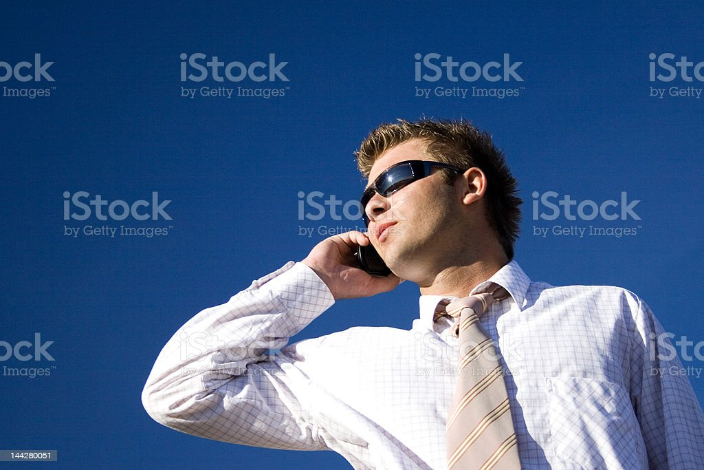Buisnessman  on the phone royalty-free stock photo