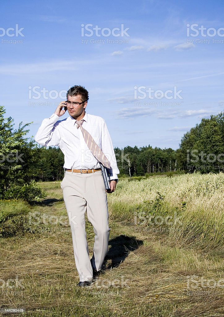 Buisnessman  on the phone royalty-free stock photo