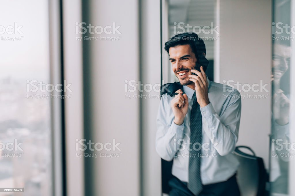 Buisnessman Talking On The Phone stock photo