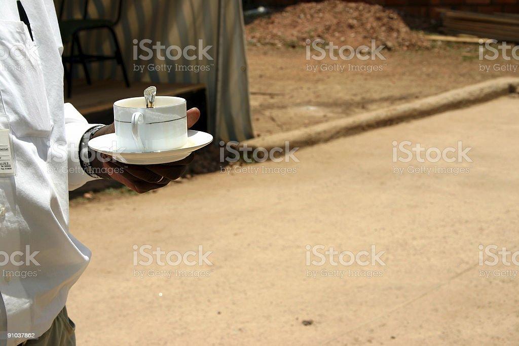 Buisnessman, Tea Time Outdoors royalty-free stock photo