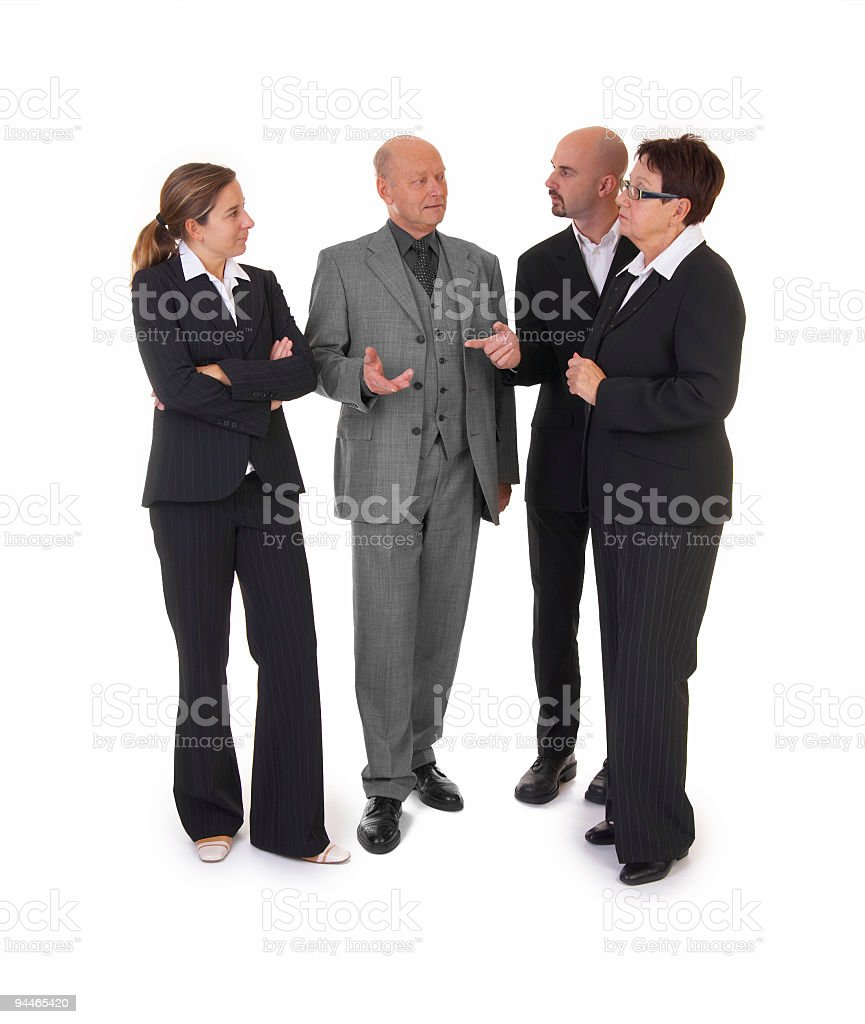 buisnesspeople in discussion stock photo