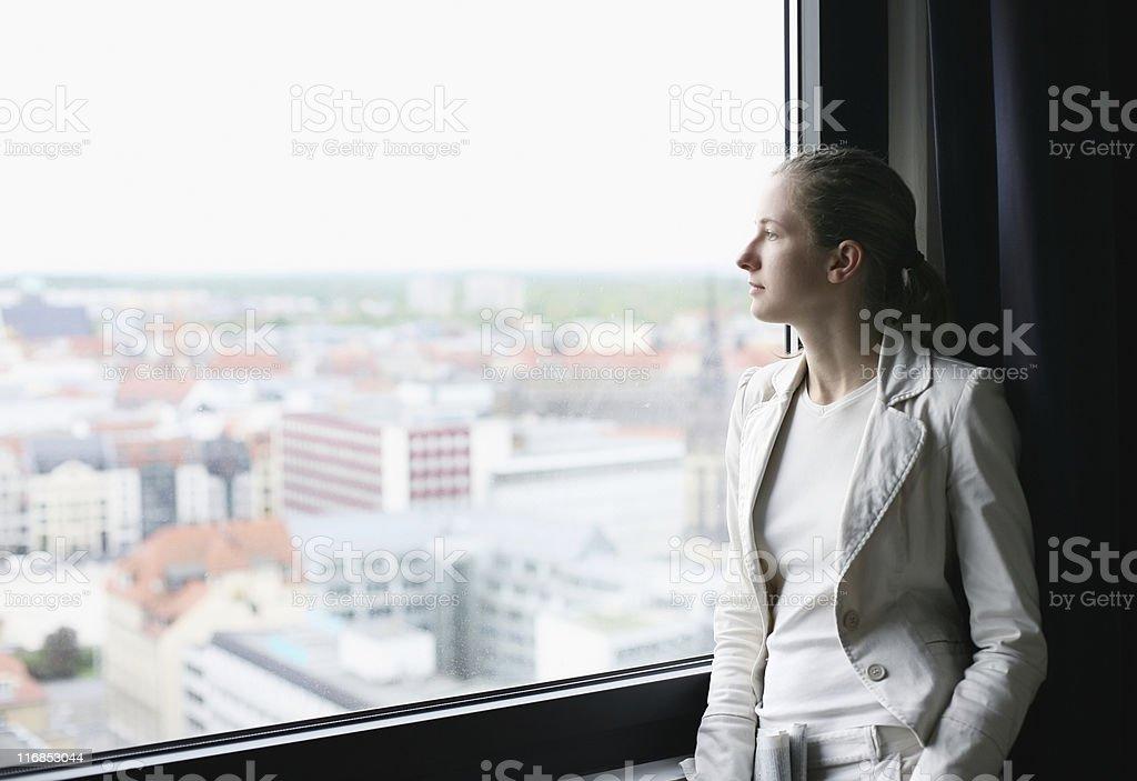 buisnesswoman at the window royalty-free stock photo
