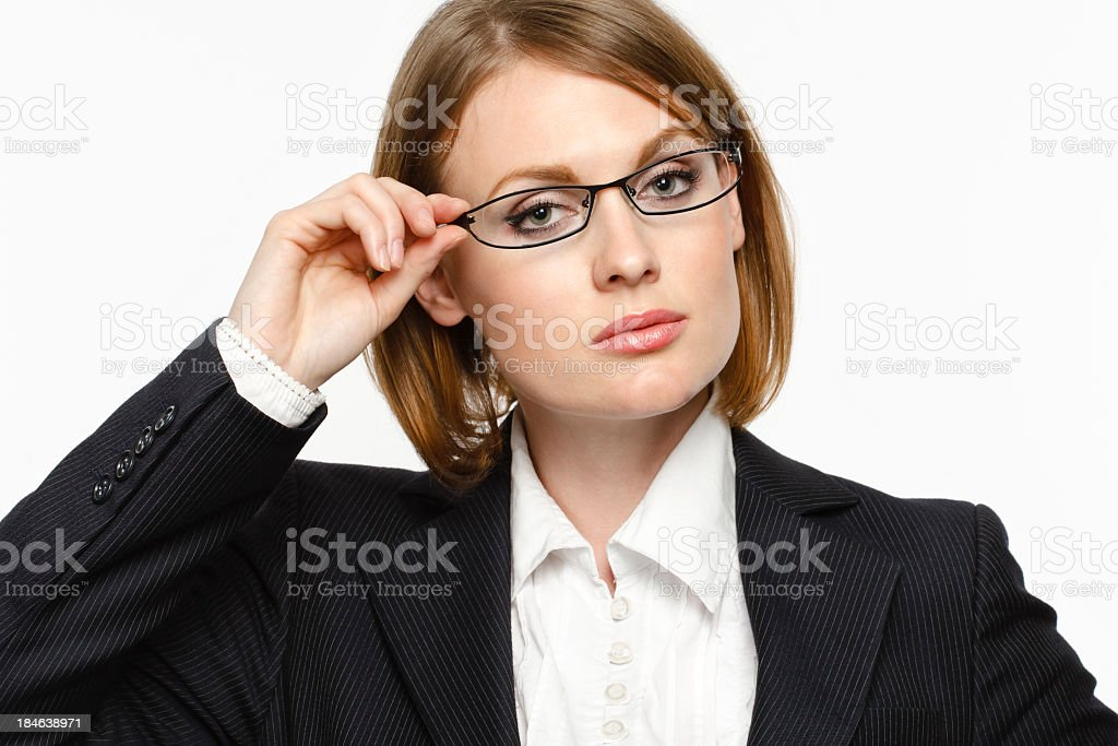 Buisnesswoman with glasses royalty-free stock photo