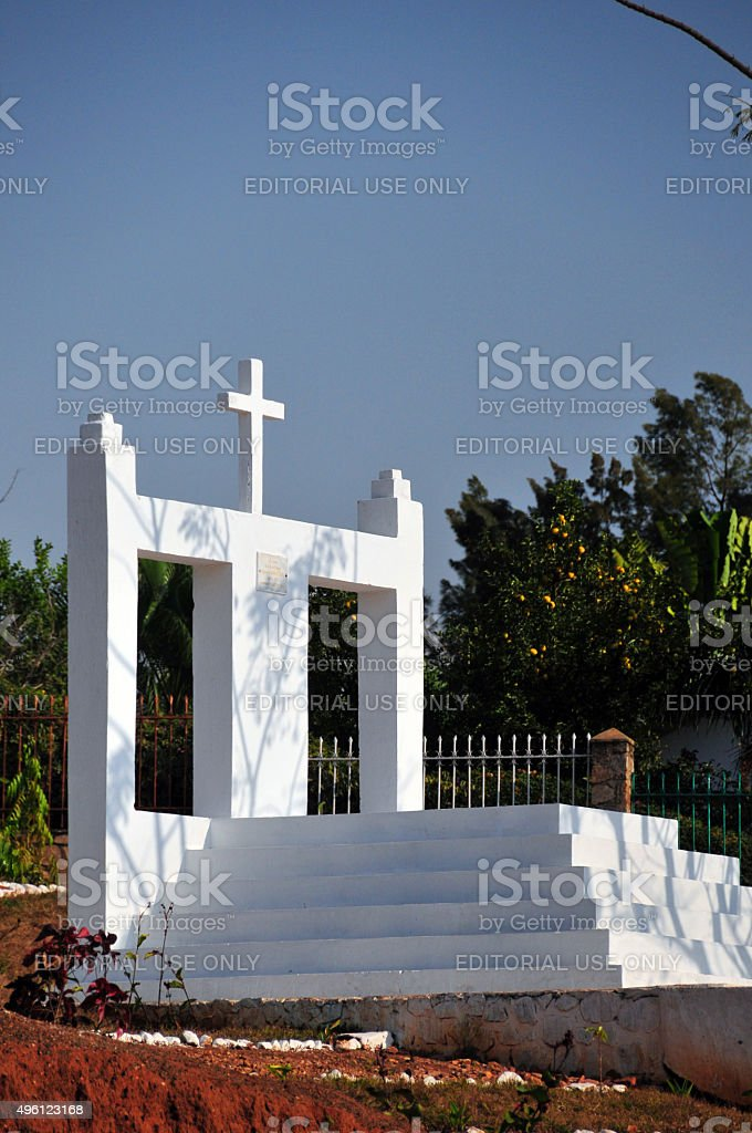 Bujumbura, Burundi: mausoleum of Prince Ignace Kamatari stock photo