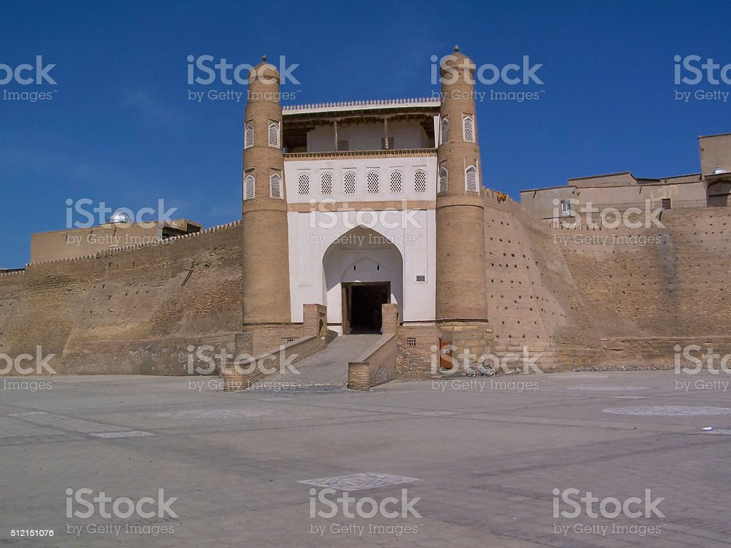 Bukhara Ark Entrance stock photo
