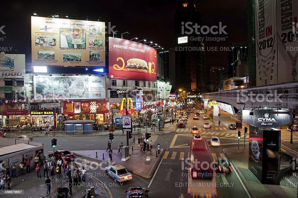 Bukit Bintang in Kuala Lumpur, Malaysia stock photo