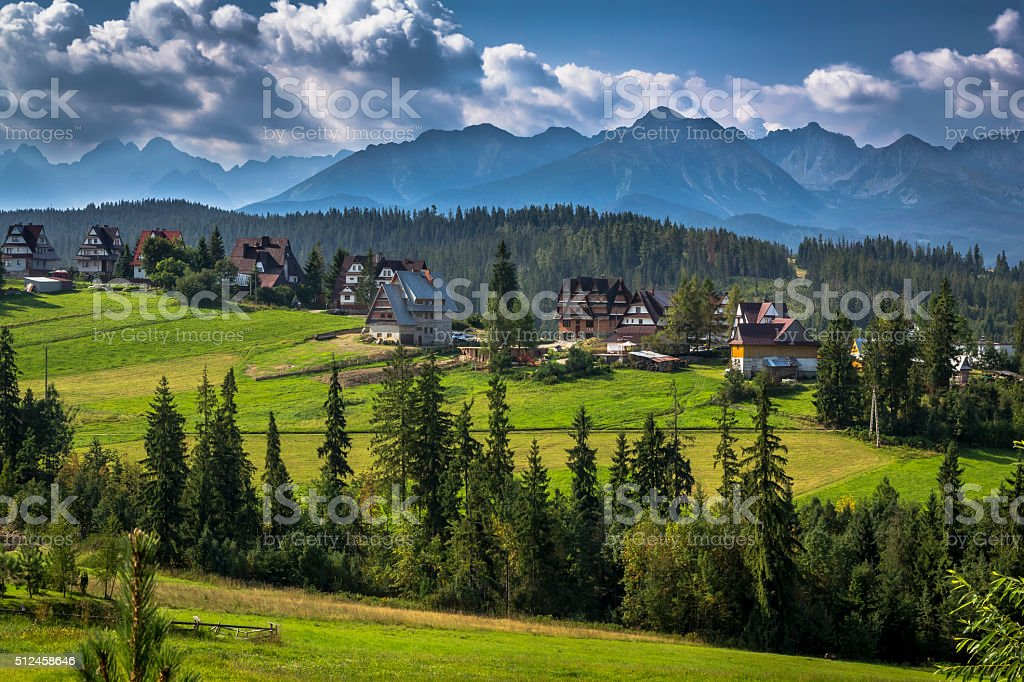 Bukowina Tatrzanska village in the Tatra Mountains stock photo
