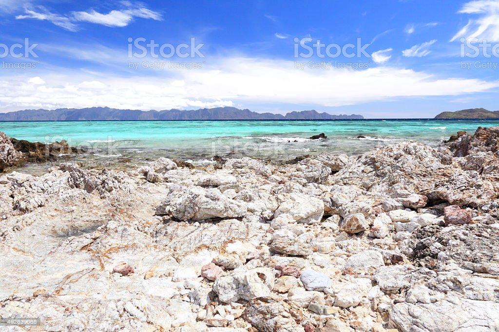 Bulalacao Island beach stock photo
