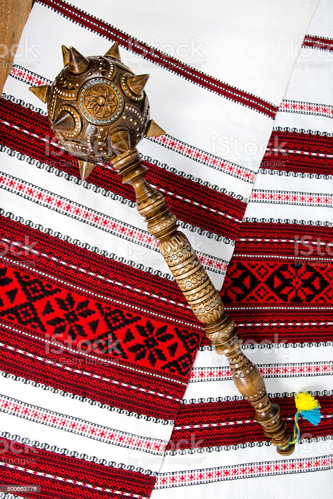 Bulava - Ukrainian symbol of authorities. stock photo