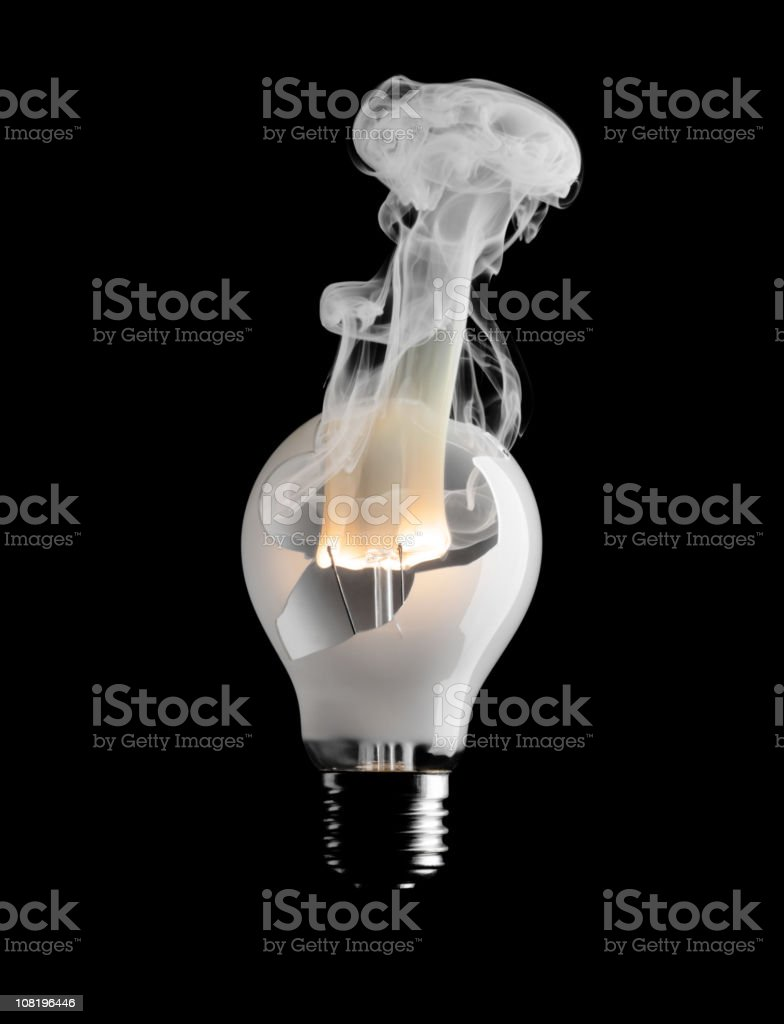 Bulb burn out. royalty-free stock photo