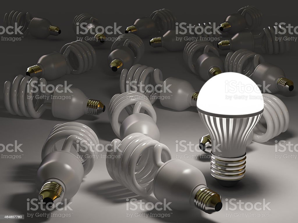 LED Bulb Concepts stock photo