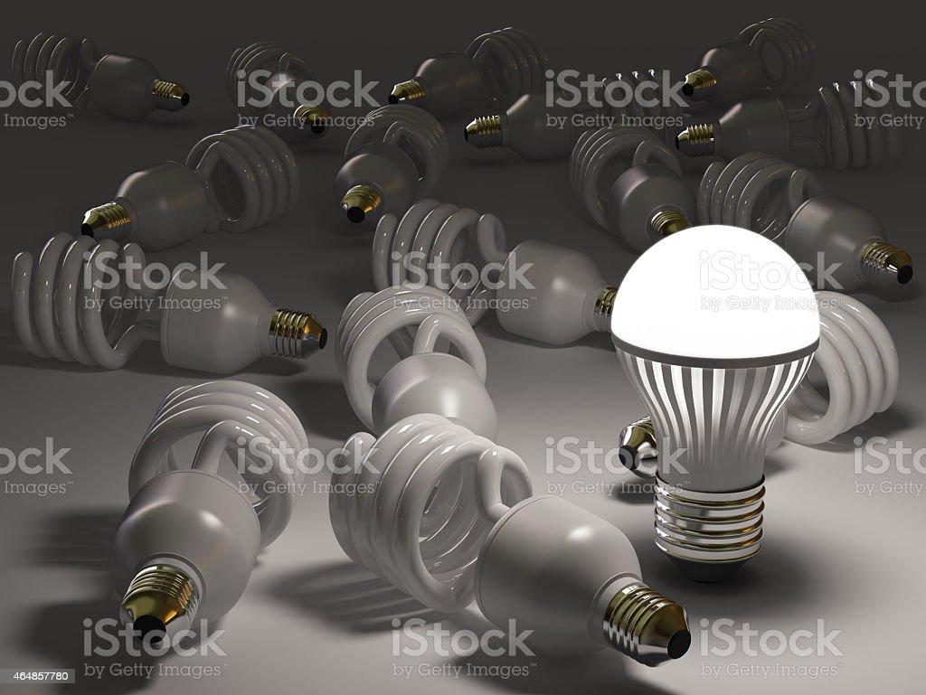LED Bulb Concepts stock photo