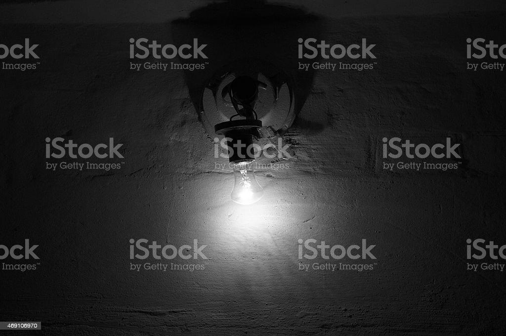 bulb, hand, dark, white, lamp, glowing, bright, electricity stock photo