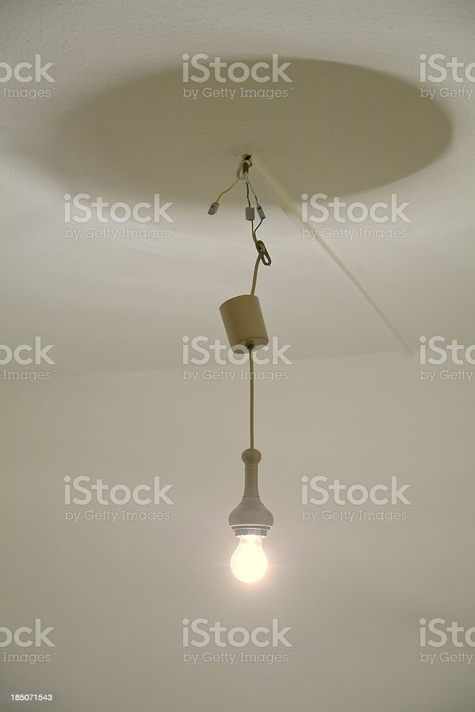 bulb - hanging from ceiling stock photo