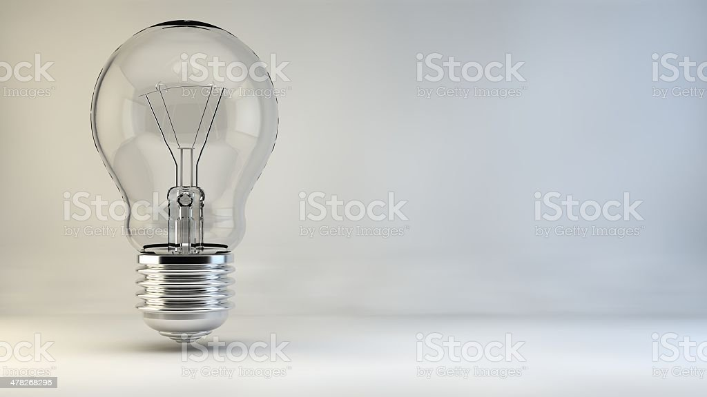 Bulb idea lamp light lights incident stock photo