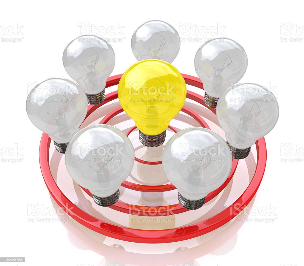 bulb idea stock photo
