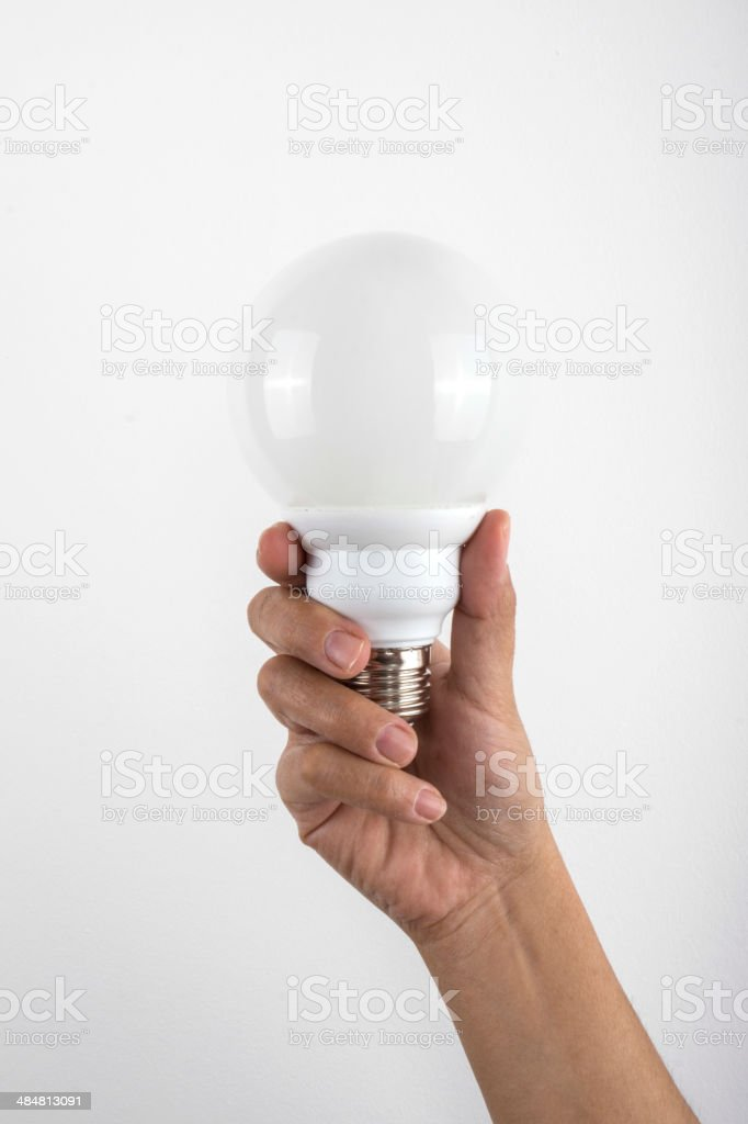 Bulb in Hand stock photo
