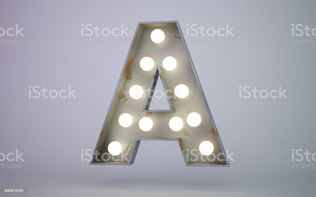 bulb light text element A stock photo