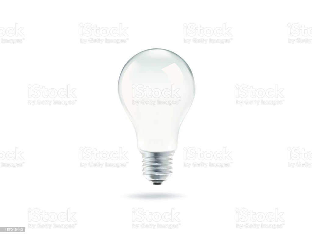 Bulb light with isolated on white background stock photo