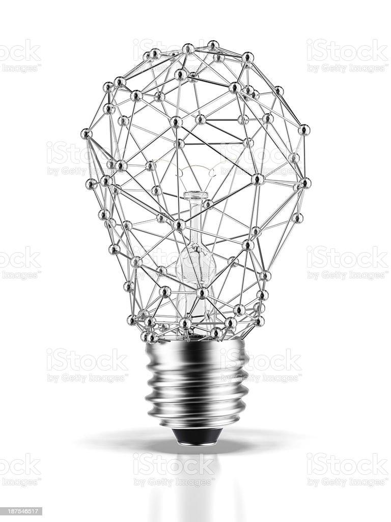 Bulb molecule stock photo