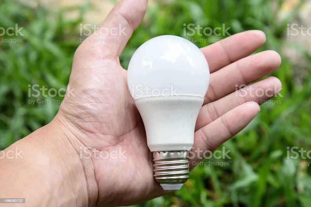 LED bulb - New technology of bulb stock photo