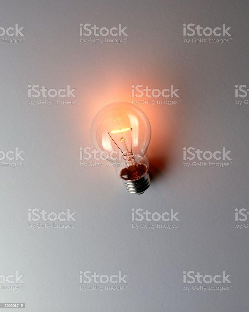 bulb on white screen royalty-free stock photo