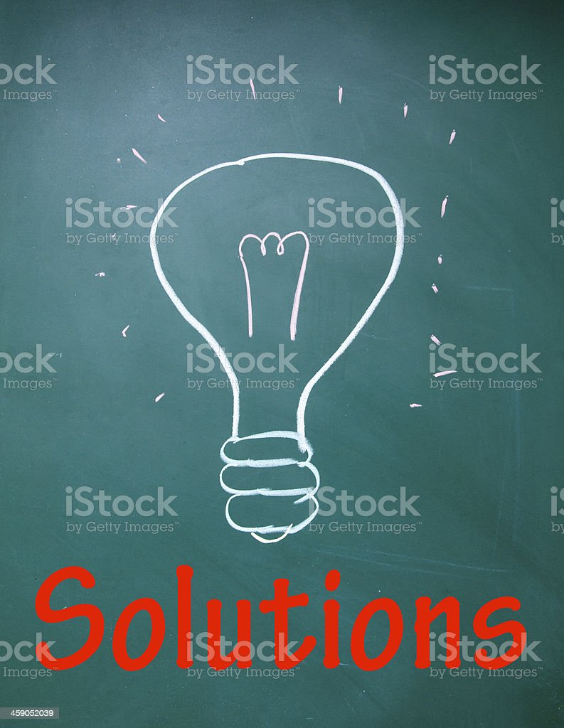 bulb sign royalty-free stock photo