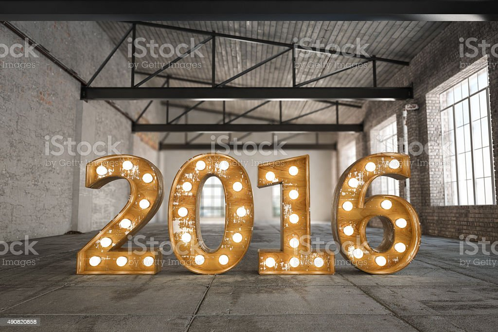 2016 Bulb Sign stock photo