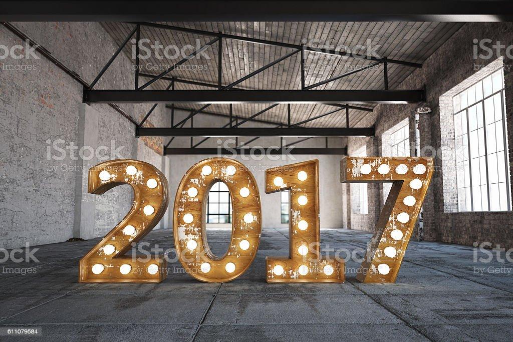 2017 Bulb Sign stock photo