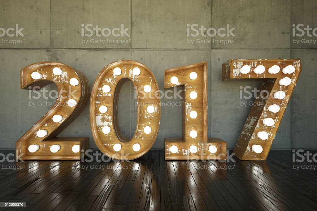 2017 Bulb Sign stock photo