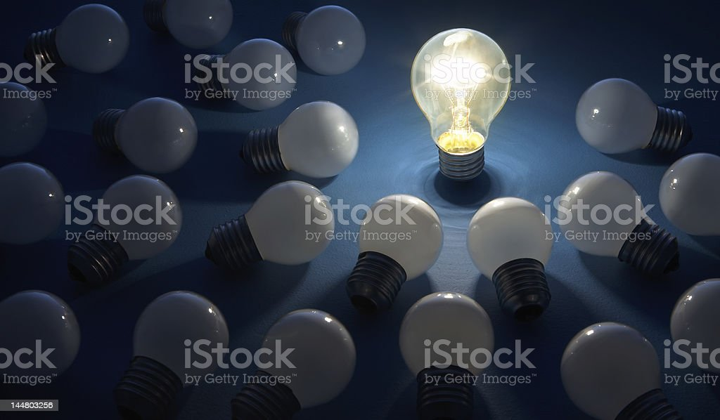 bulbs 1 stock photo