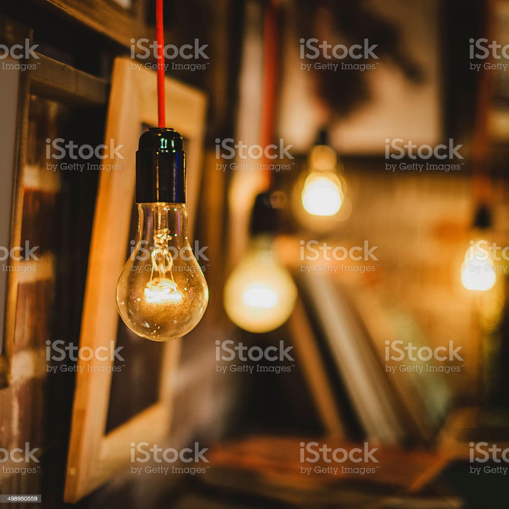 bulbs and pictures stock photo