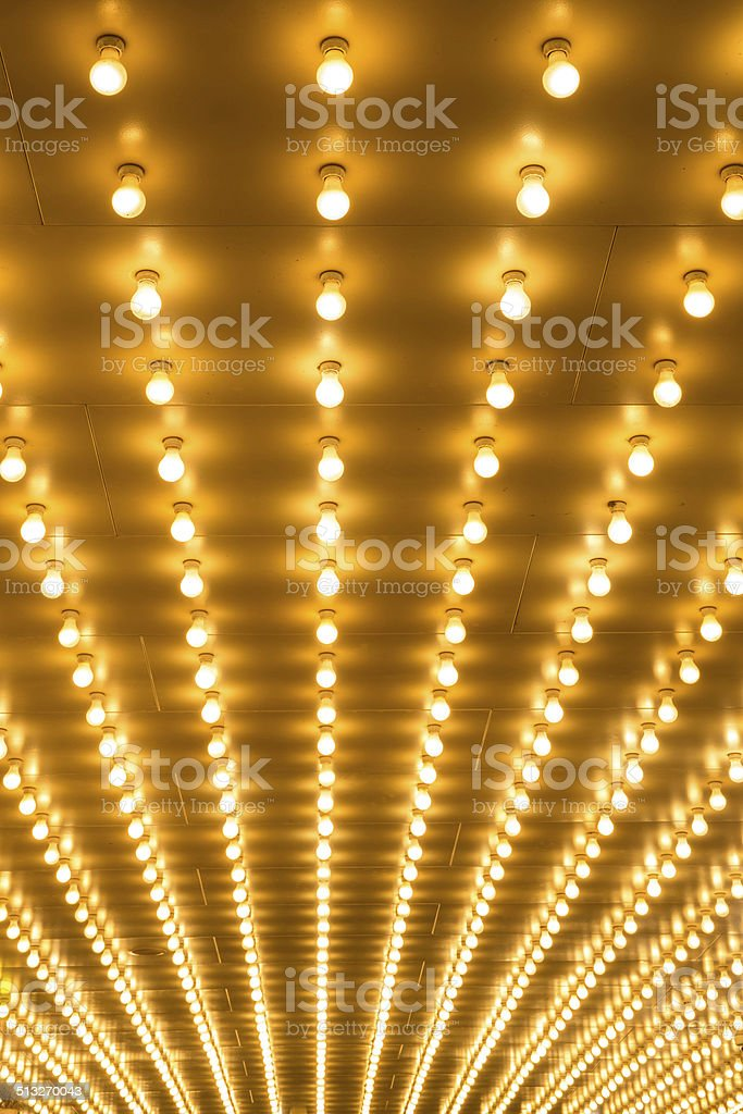 bulbs marquee lights background stock photo
