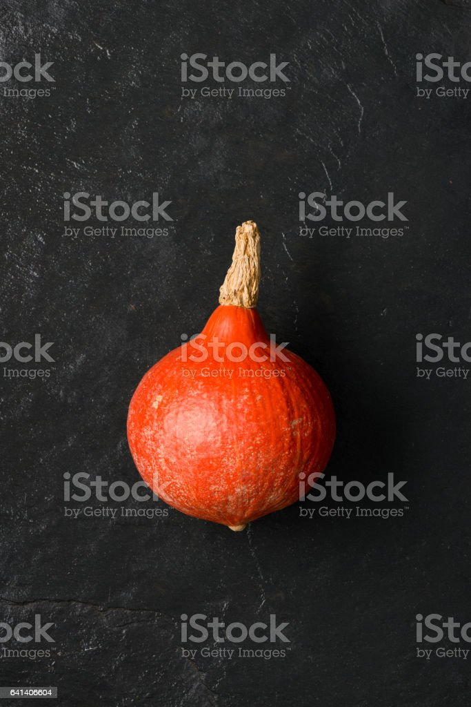 Bulb-Shaped Orange Squash or Gourd stock photo