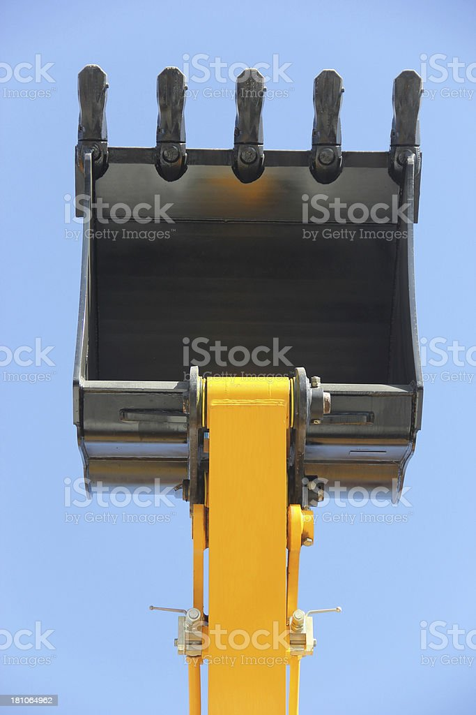 Buldozer blade stock photo