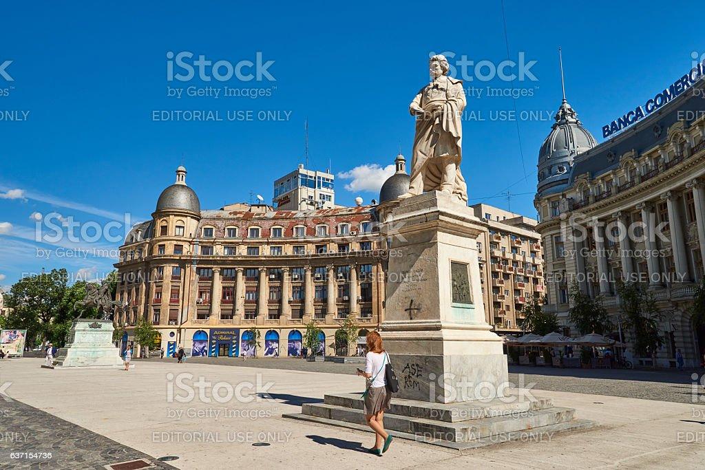 Bulevardul Regina Elisabeta in Bucharest stock photo