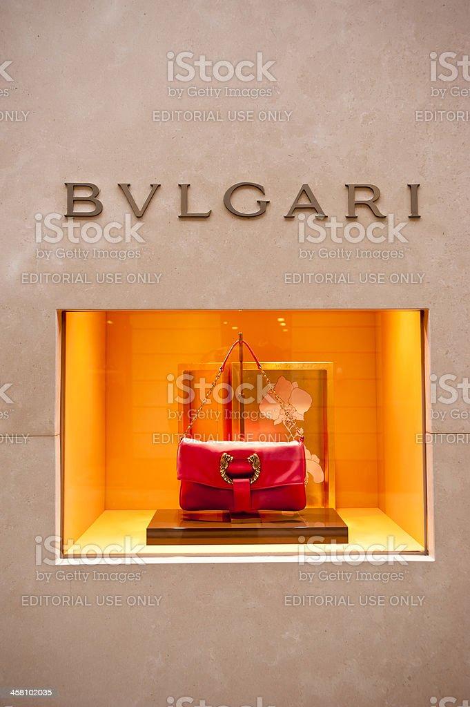 Bulgari boutique in Milan, Italy stock photo