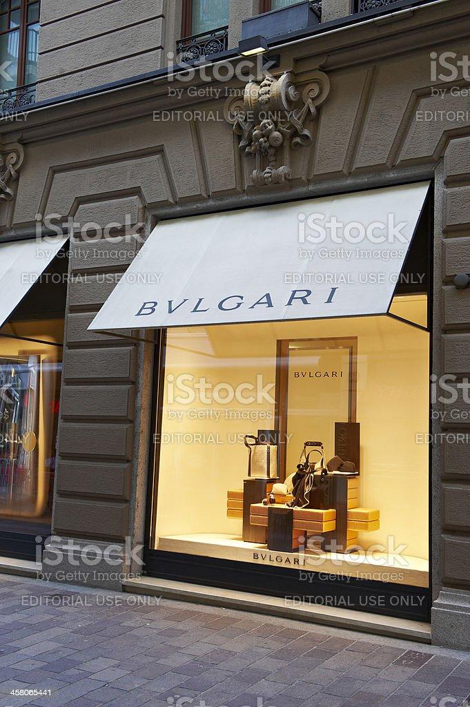 Bulgari Shop in Lugano royalty-free stock photo