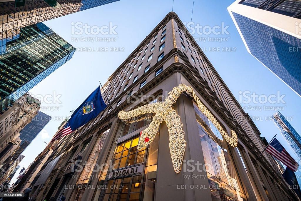 Bulgari shop on 5th Avenue, NYC, USA stock photo