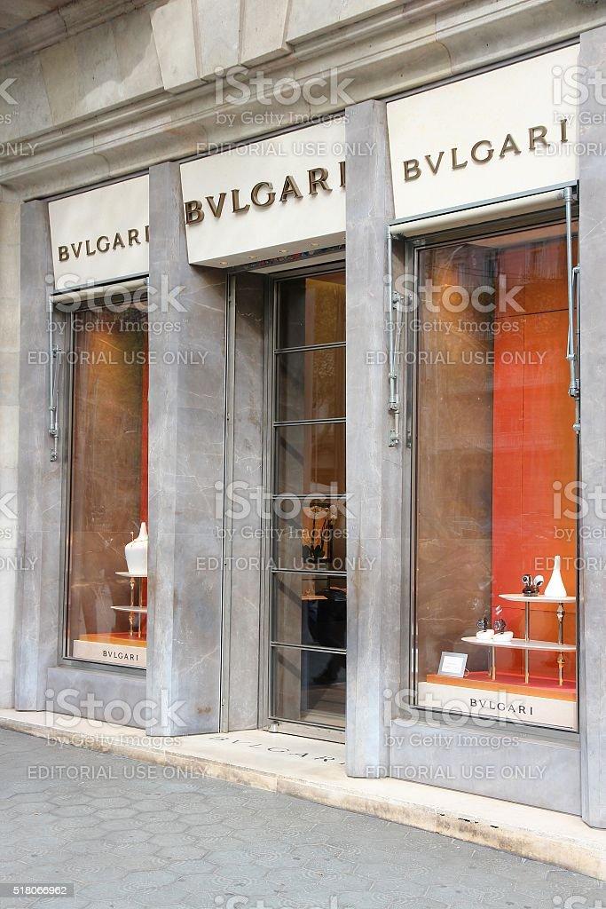 Bulgari shop stock photo