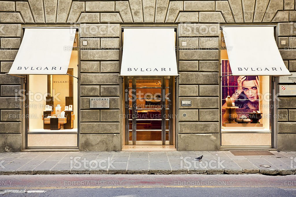 Bulgari Store in Florence, Italy royalty-free stock photo