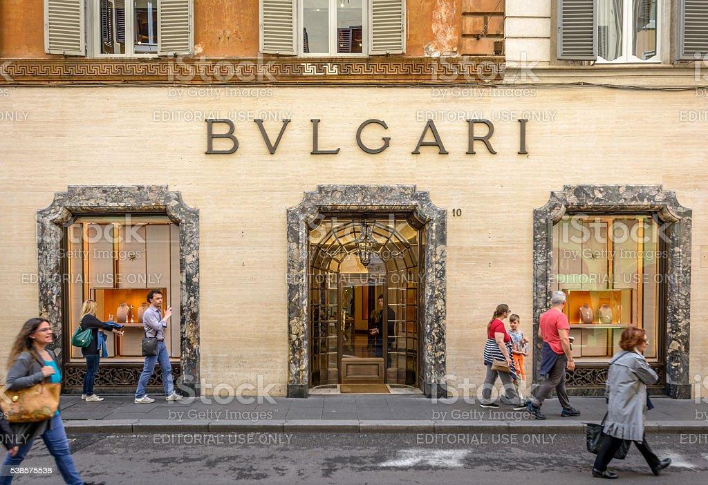Bulgari store in Via dei Condotti stock photo